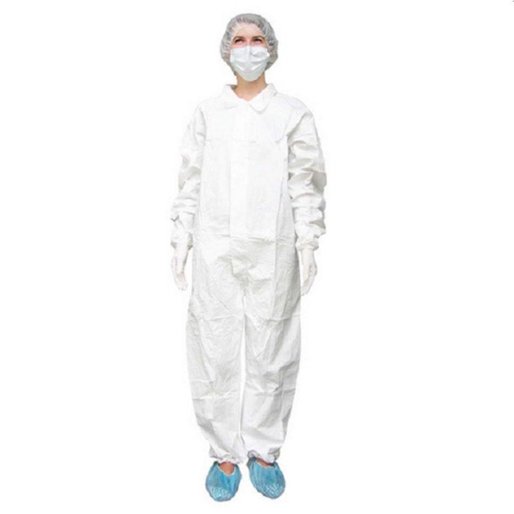 White Disposable Safety Protective Coverall-003