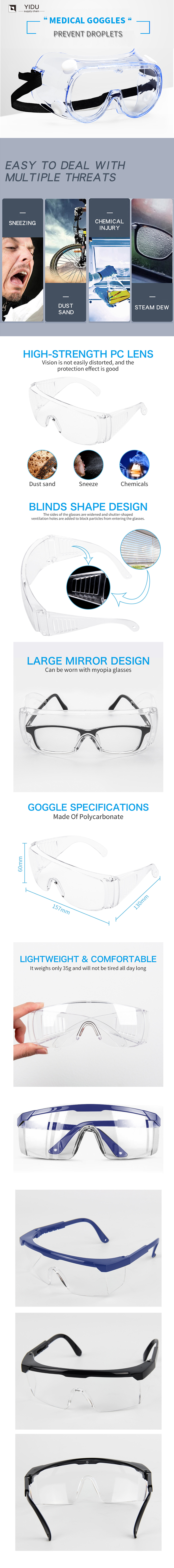 Manufacturer of protective goggles for hospitals